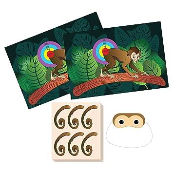 Amazon Pin The Tail On The Monkey Birthday Game Jungle Theme