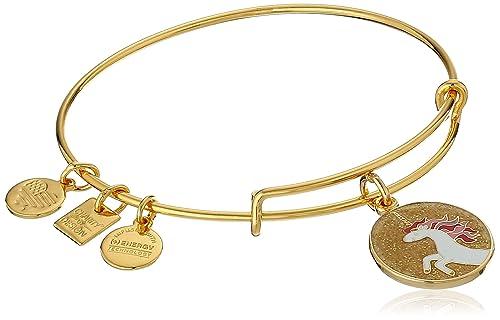 Alex and Ani Unicorn Expandable Yellow Gold Bangle Bracelet