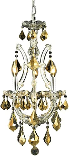 Elegant Lighting 2800D12C-GT RC Maria Theresa 22-Inch High 4-Light Chandelier