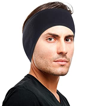 Omenex Winter Headband Double-Layer Fleece More Thicker Men's Headband/Women's Ponytail Earband Ear Warmer