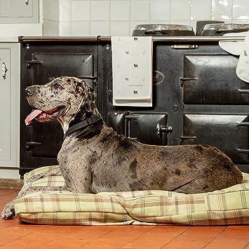 Lords & Labradors Lujo Hecho a Mano Tweed Perro Cama cojín (pequeño, Balmoral Sage
