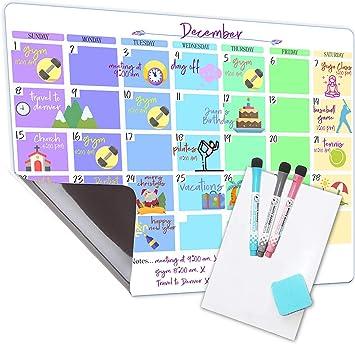 Amazon.com : Hermen Dry Erase Calendar For Fridge Magnetic