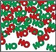 HO HO HO Fanci-Fetti (red & green) Party Accessory  (1 count) (1 Oz/Pkg)