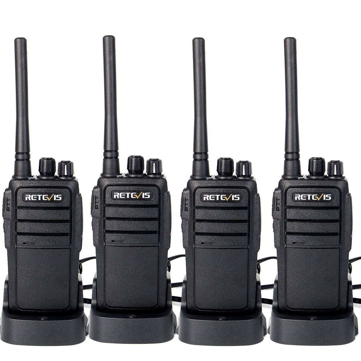 Retevis RT21 Walkie Talkies Rechargeable 16 Channels FRS License-Free 2 Way Radios(4 Pack) by Retevis