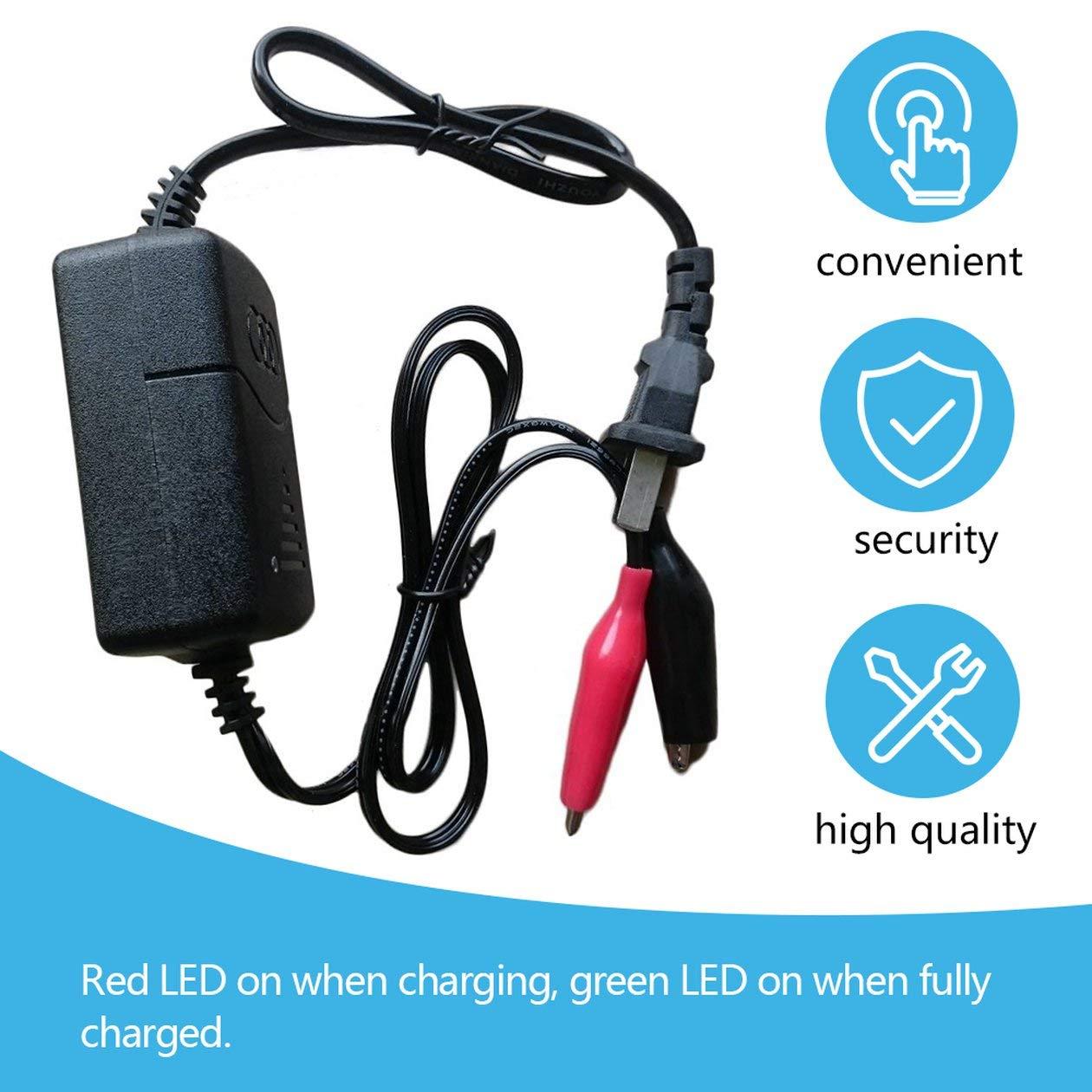 couleur: noir Chargeur de batterie rechargeable automatique au plomb scell/é noir 12 V 1300mA avec protection de court-circuit par moto de camion de voiture