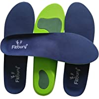 Fitbury [2 Pairs] Orthotic Insoles Full Length With Arch Supports & FREE eBook, Plantar Fasciitis Insoles, Orthotic Inserts, Plantar Fasciitis Supports For Flat Feet & Fallen Arches