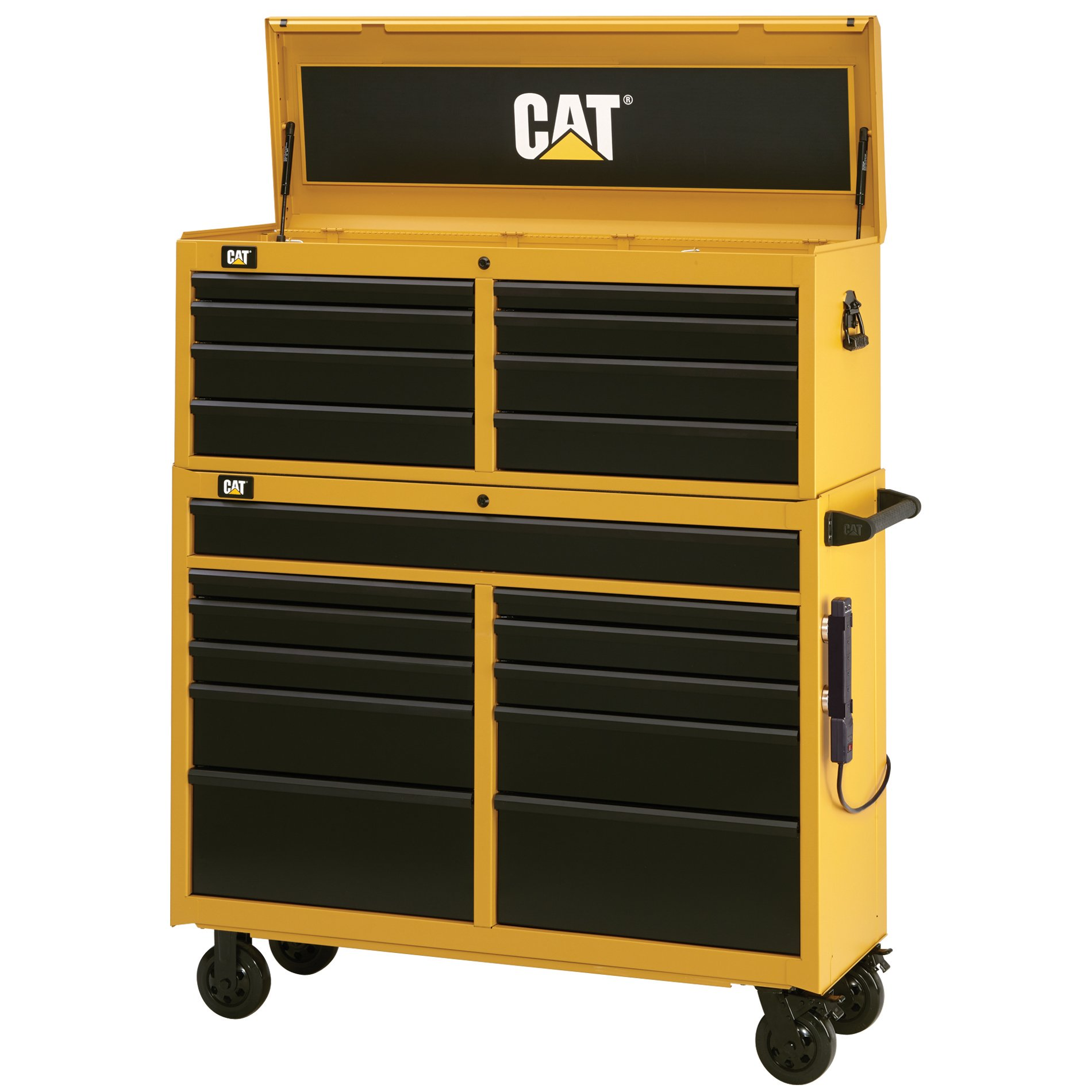 Cat 19-Drawer Ball-Bearing Tool Chest and Cabinet Combination, 52'' W - Designed, Engineered and Assembled in the USA by Cat Tool Storage