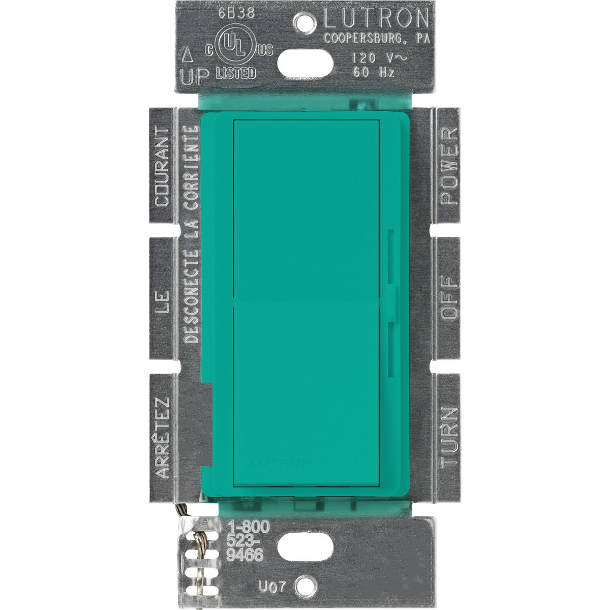 Lutron Diva 1000ワット 調光器 DVSC-10P-TQ 1 B0016ZOCUW ターコイズ ターコイズ