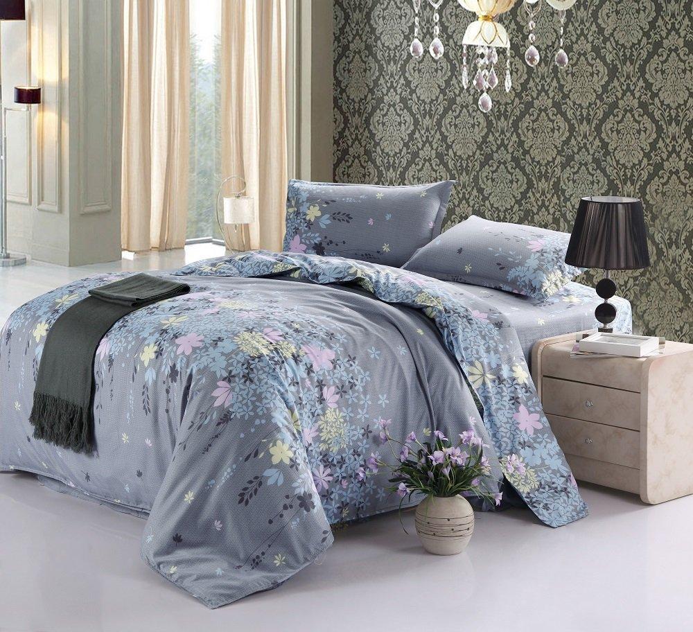 Vaulia Cotton Blend Lightweight Duvet Cover Set