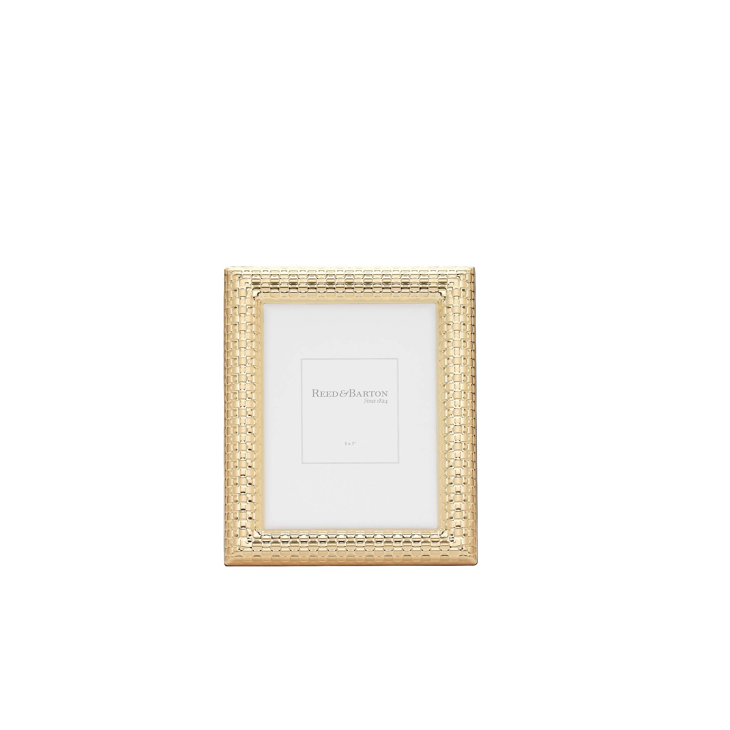 Reed & Barton Watchband Satin Gold Frame, 5'' X 7''