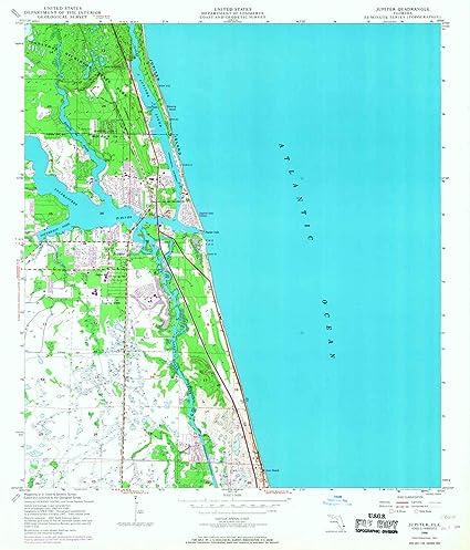 Map Of Jupiter Florida.Amazon Com Yellowmaps Jupiter Fl Topo Map 1 24000 Scale 7 5 X