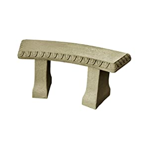 EMSCO Group Garden Bench –Natural Sandstone Appearance –Made of Resin