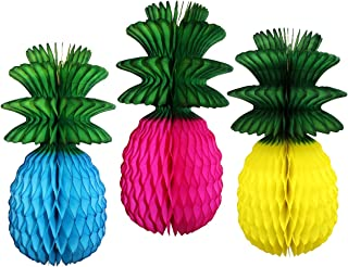 product image for Set of 3 Multi Luau Pineapple Decorations, 13 Inch