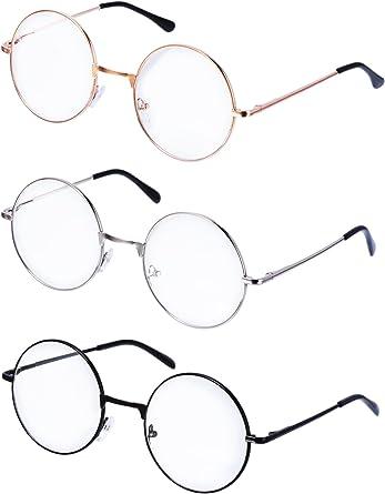 Retro Fashion Clear Lens Glasses Round Metal Top Bridge Eyeglasses Frame