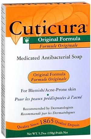 Cuticura Medicated Antibacterial Soap Original Formula 5.25 oz (Pack of 3)