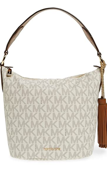 ae48b5880e21 Michael Kors 10.5-Inch Elana Shoulder Bag, Vanilla: Handbags: Amazon.com