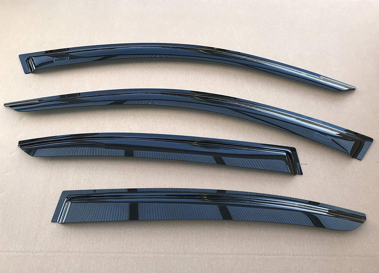 OEMM Set Of 4 Wind Deflectors Compatible with MITSUBISHI L200 Barbarian Triton Animal Strakar /& FIAT FULLBACK4 Door PICKUP 2015 2016 2017 2018 2019 2020 2021 Acrylic Glass Window Deflectors