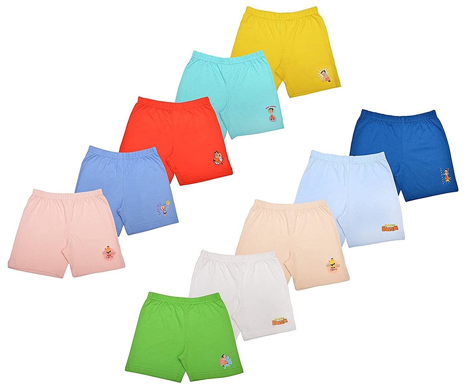 Chhota Bheem Baby Cotton Shorts for Baby Boy and Girl Pack of 10 LNLCHSHT027