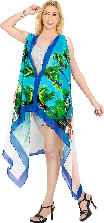 HAPPY BAY Womens One Size Loose Summer Tops Kimono Cardigan Beach Swim Cover up