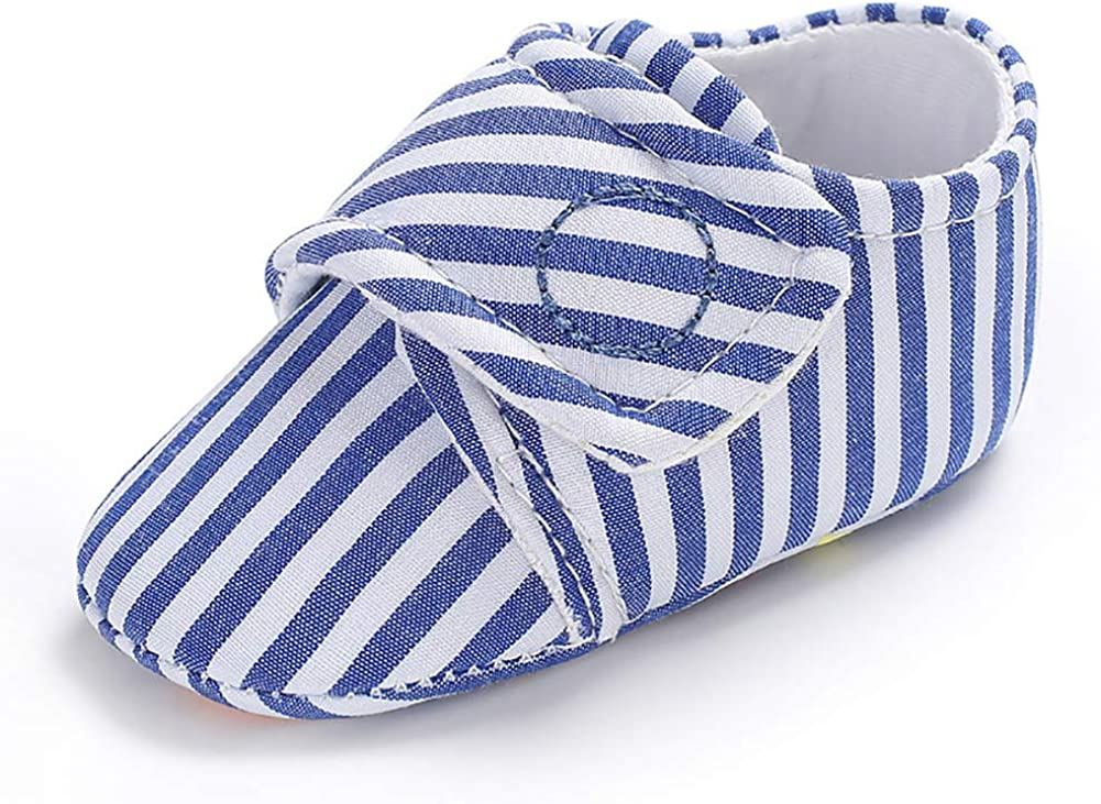 Grey 12cm Baby Low Tube Shoes Fashion Infant Baby Boys Soft Sole Anti-Slip Stripe Prewalker Low Tube Shoes