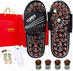 CLORIS Foot Massager Deep Tissue Circulation  Massage Slippers with Jade Stones