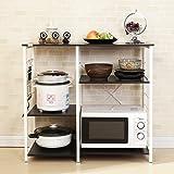 Soges 3-Tier Kitchen Baker's Rack Utility Microwave Oven Stand Storage Cart Workstation Shelf 171-BK-CA