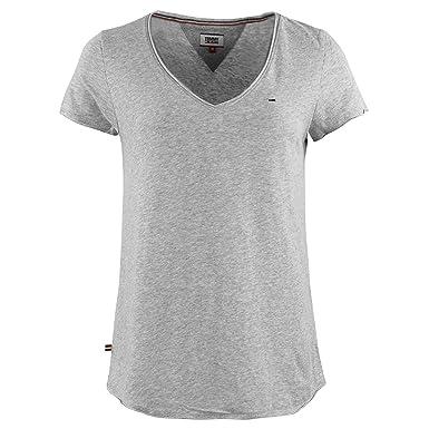 Tommy Hilfiger Tjw Soft Jersey V Ne T Shirt MC Femme Gris