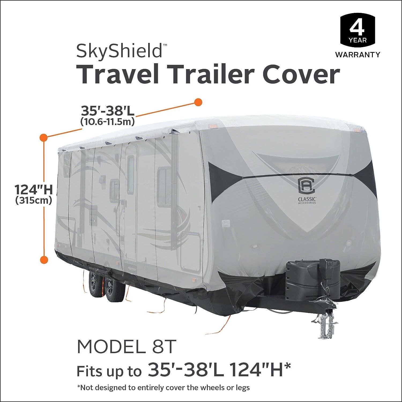 Classic Accessories SkyShield RV Travel Trailer Cover For 20-22 L 118 Max H