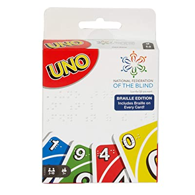 Mattel Games UNO: Braille - Card Game (for Blind and Low Vision Players): Toys & Games