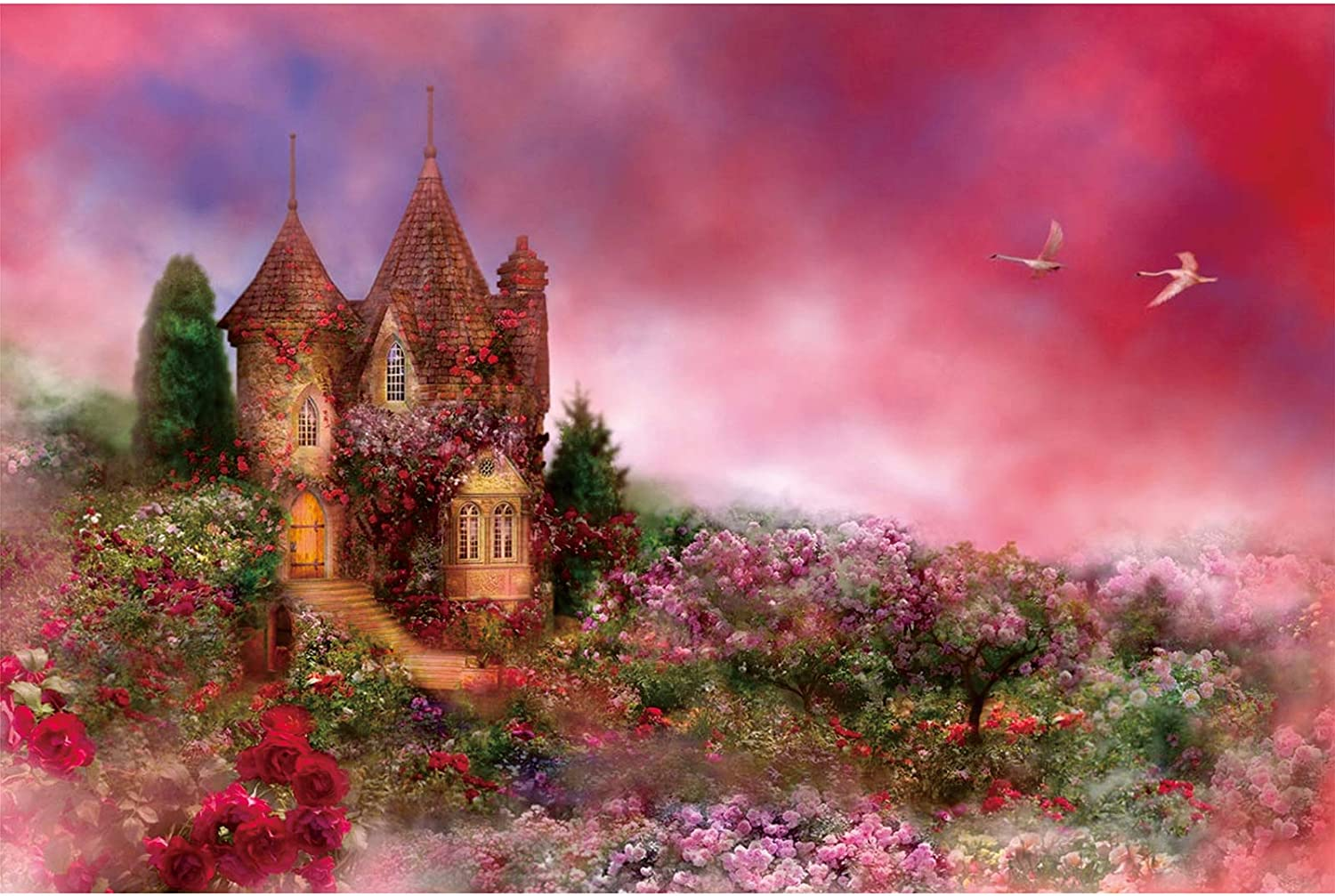 Ingooood-Jigsaw Puzzle 1000 Pieces-Sneak Peek Series-Abandoned Castle/_IG-1011 Entertainment Toys for Adult Special Graduation or Birthday Gift Home Decor