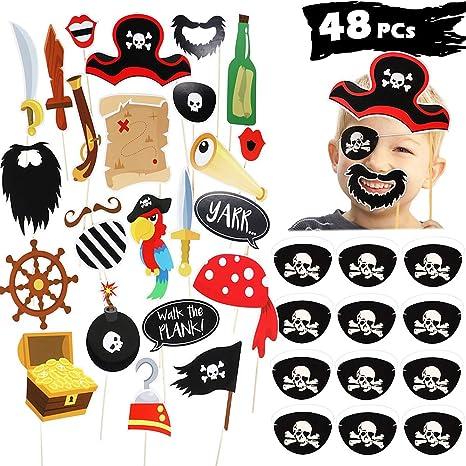 Capelli da pirata di carta per bambini amazon