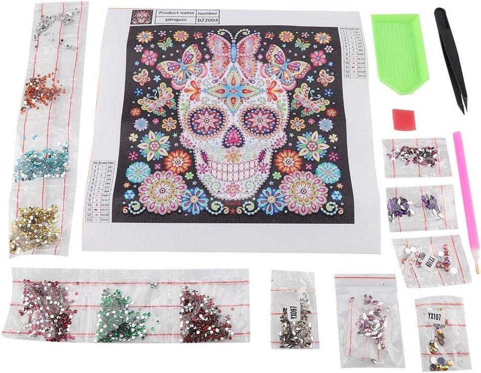 Fdit DIY - Kit de pintura con forma especial de calavera y cristales para decoración del hogar