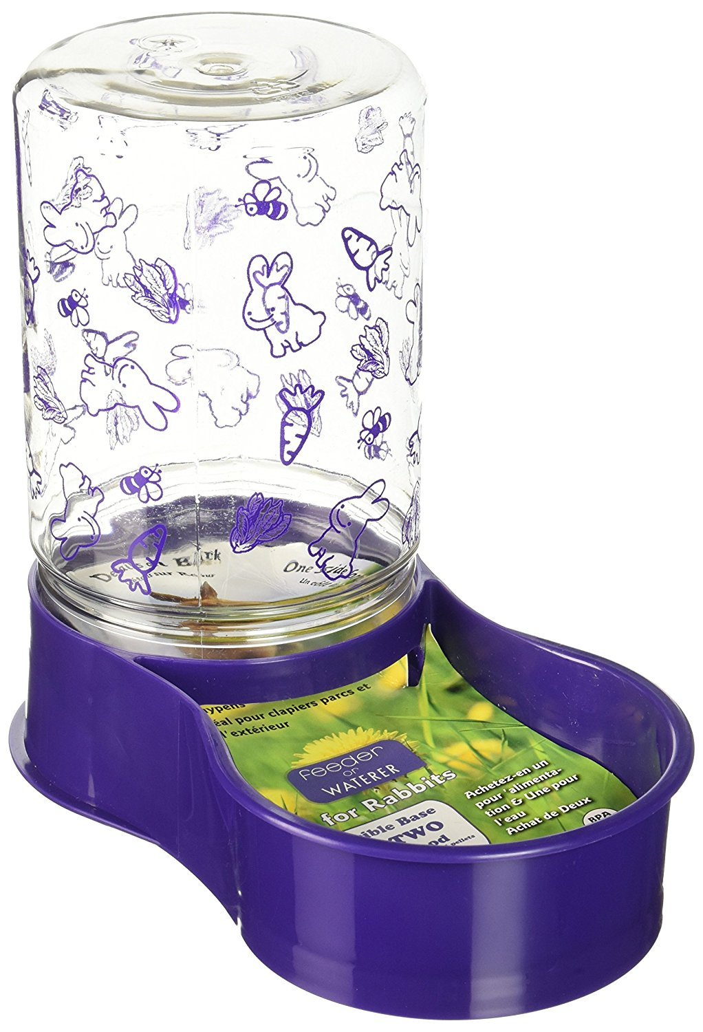 Lixit Animal Care Rabbit Feeder/Water Fountain, 48-Ounce