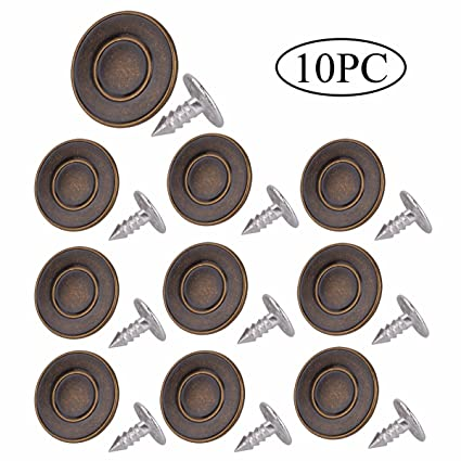 10pcs Metal Press Studs Sewing Button Accessories With Nails Kits For Replacement Instant Suspenders Snap Fasteners Arts,crafts & Sewing