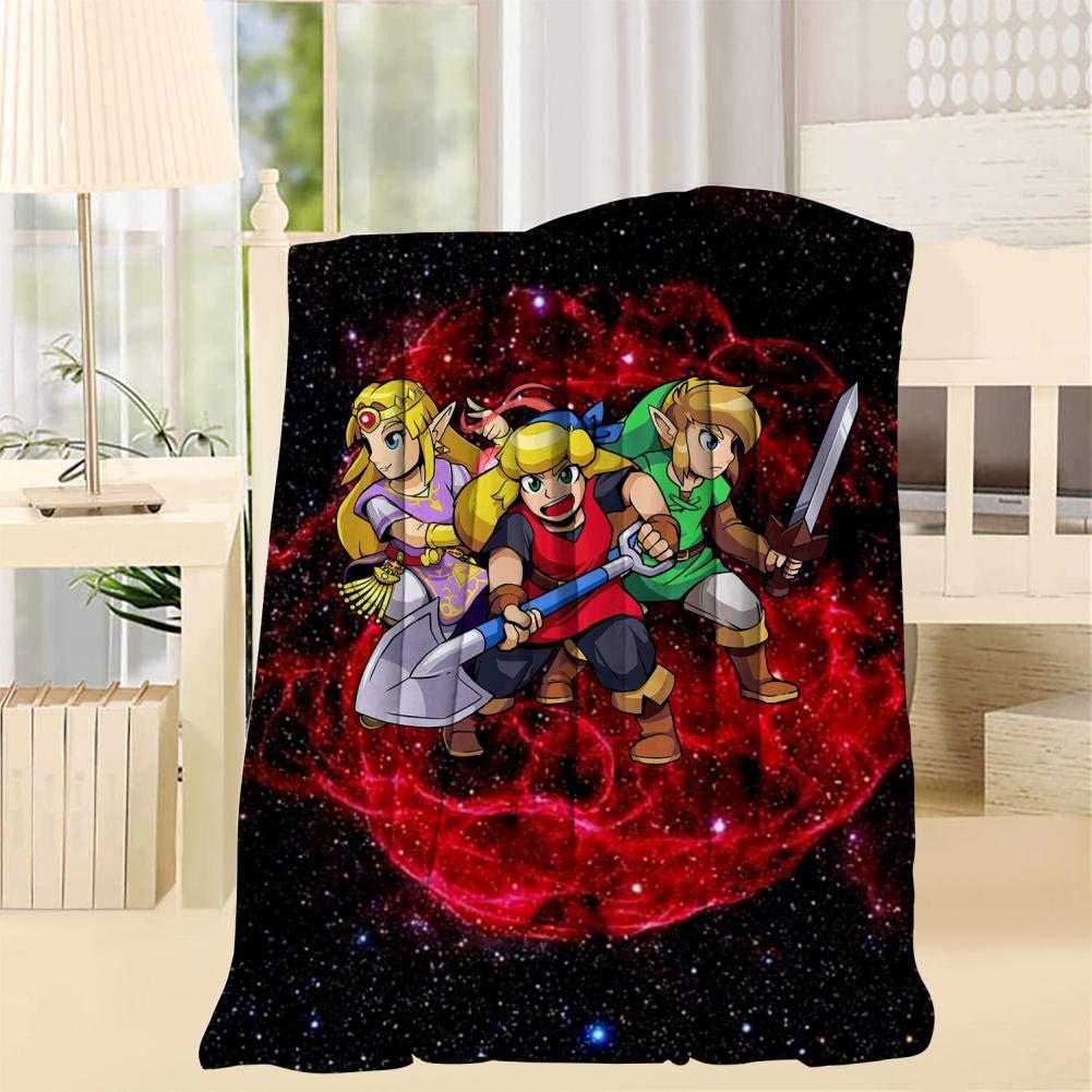 TRV0PFE Legend-of-Zelda Super Soft Blanket 3D Fleece Woolen Blanket Warm for Adults and Children by TRV0PFE