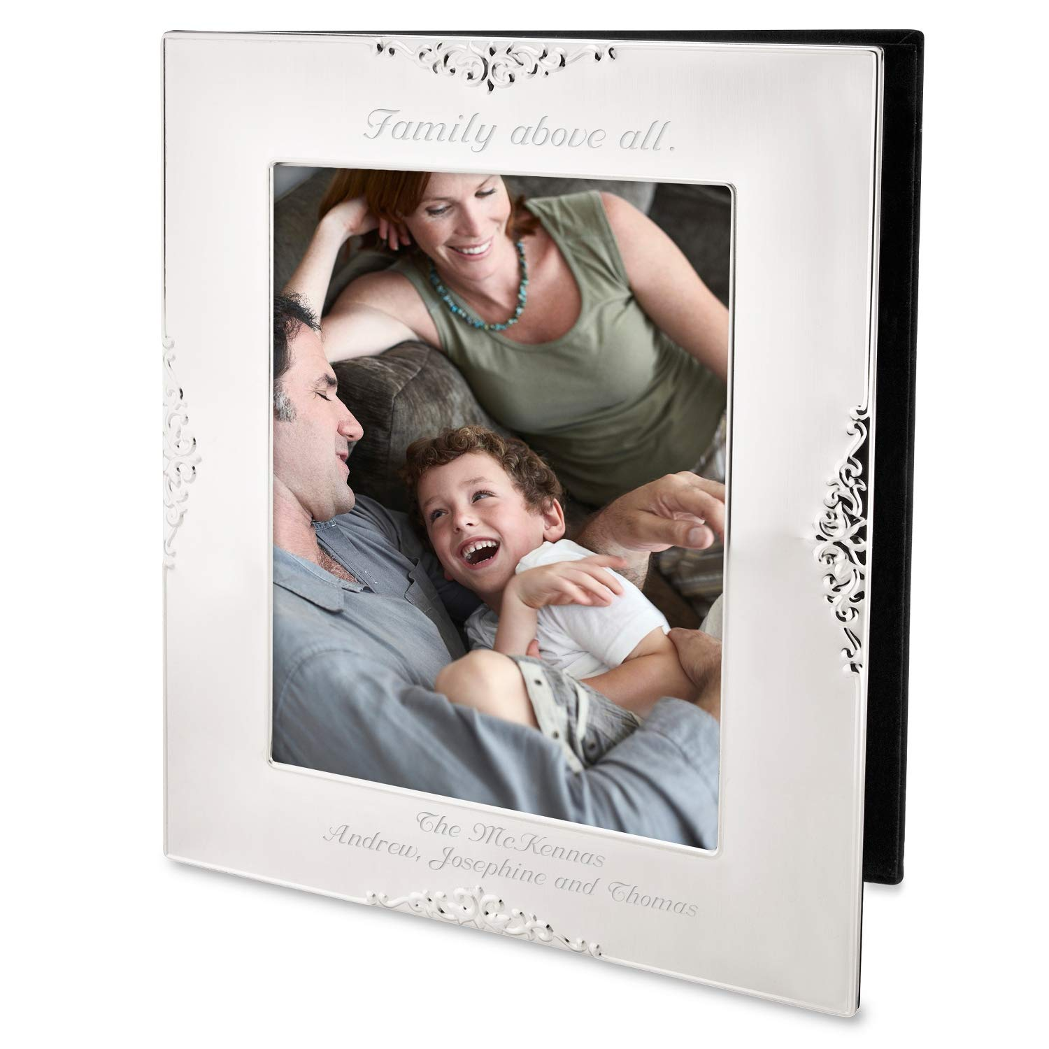 Things Remembered Personalized Heirloom Silver Picture Album with Engraving Included