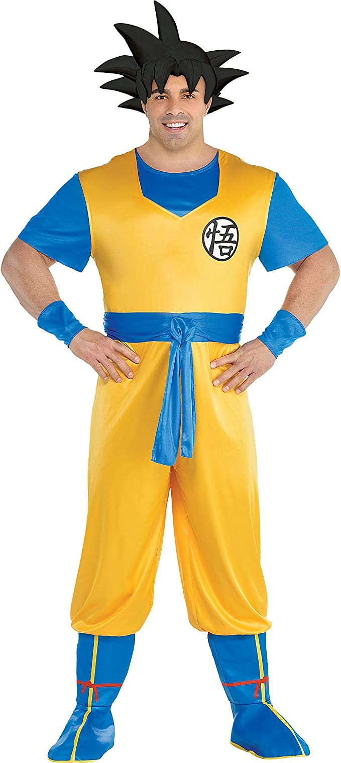 Party City Dragon Ball Z Goku Disfraz para Adultos, Talla Grande ...