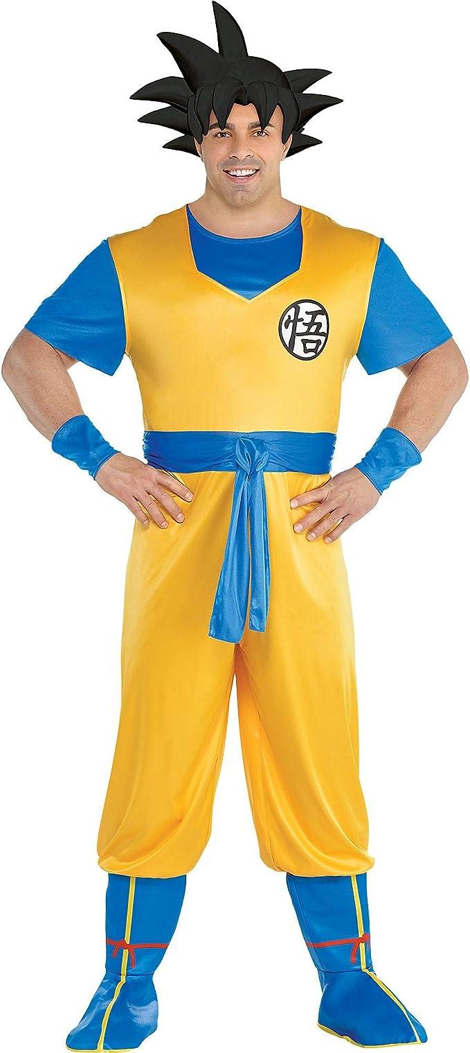 Party City Dragon Ball Z Goku Disfraz para Adultos, Talla Grande ...