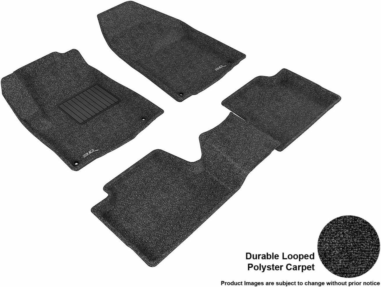 Black Nylon Carpet Coverking Custom Fit Front Floor Mats for Select Eagle Summit Models
