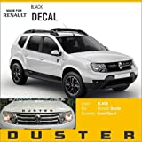 KaaHego Front and Rear Stylish Car Sticker for Renault Duster (C86 Black) (Pack of 2)