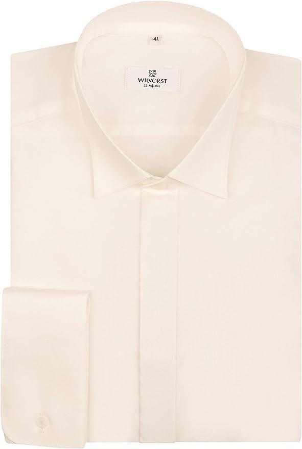 Wilvorst - Camisa para hombre (100% algodón, diseño con ...