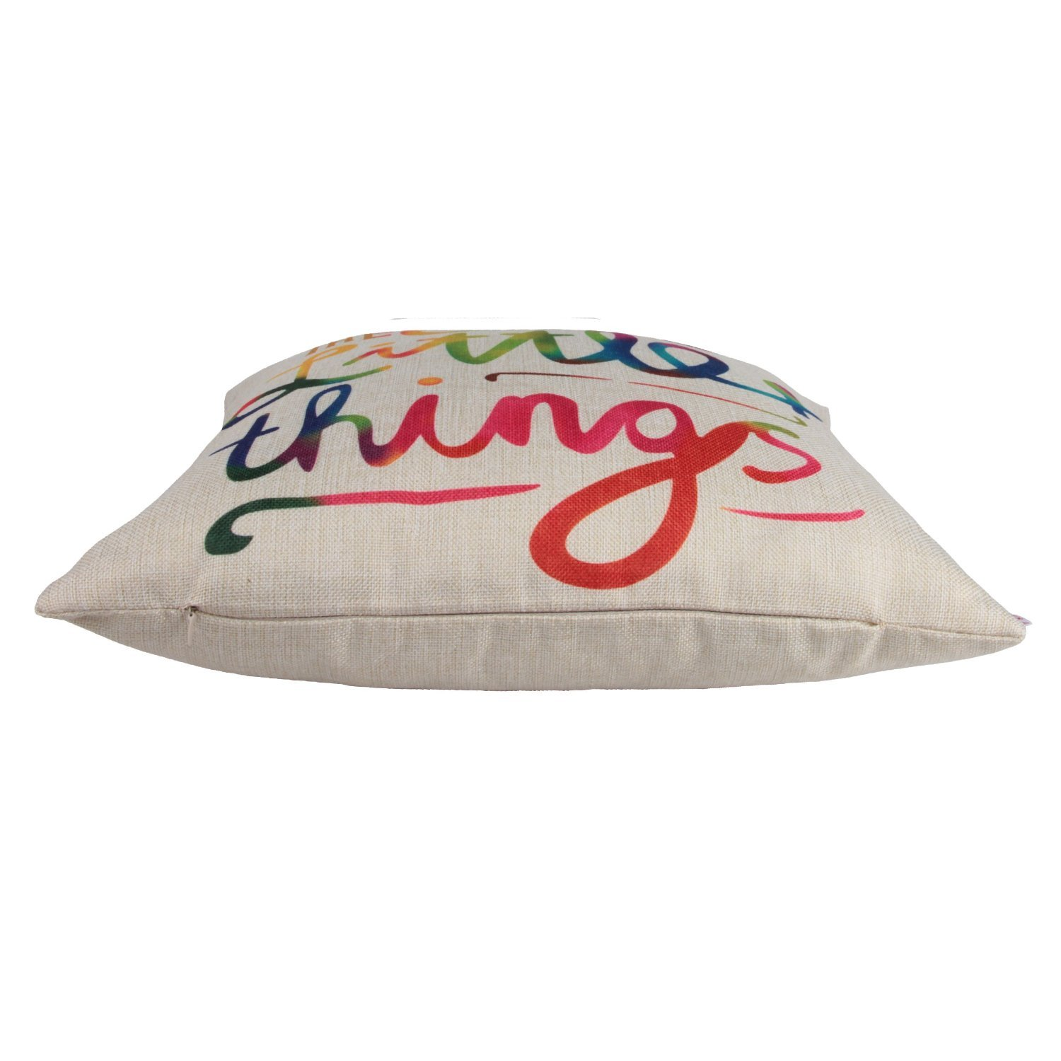 4Rissa Enjoy The Little Things Colorful Inspirational Inspiring Throw Bedding Pillow Home Decor