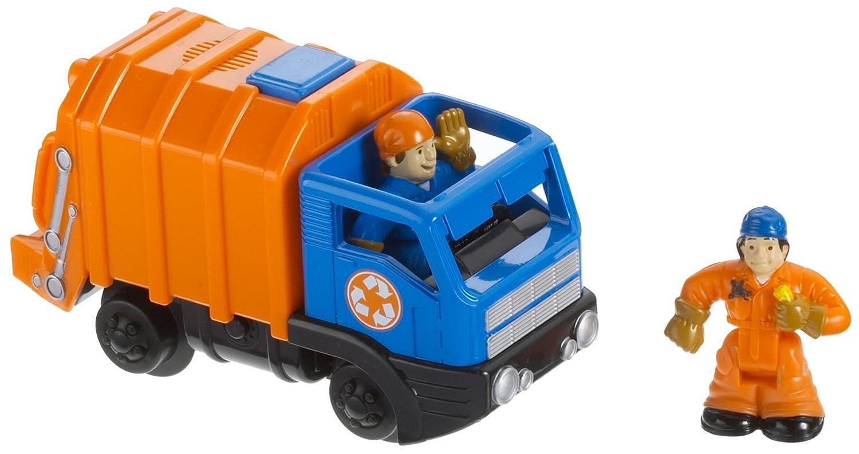 Fisher-Price - GeoTrax - Rail & Road System - 'The Stinkiest Team' - Hugh & Vern - Müllwagen mit real Sound - OVP