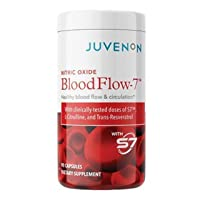 Juvenon BloodFlow-7 Blood Circulation Supplement Butch Booster BeetrootNitric Oxide Booster varicose Vein Optimizer Blood Pressure and Cholesterol Support Healthy Legs and feet 90 Capsules