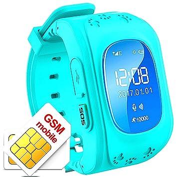 Reloj Inteligente Niña GPS con Rastreador del Sueño Llamadas de Dos Vías Reloj Niños Inteligente Smartwatch Niños GPS Sim con Llamada de Emergencia ...