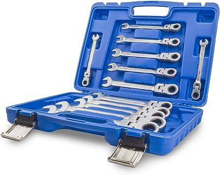 Set di chiavi combinate a cricchetto Set di chiavi combinate da 12 pezzi 20 pezzi Set di chiavi combinate metriche 6-32mm Set di chiavi combinate con piastra magnetica e custodia