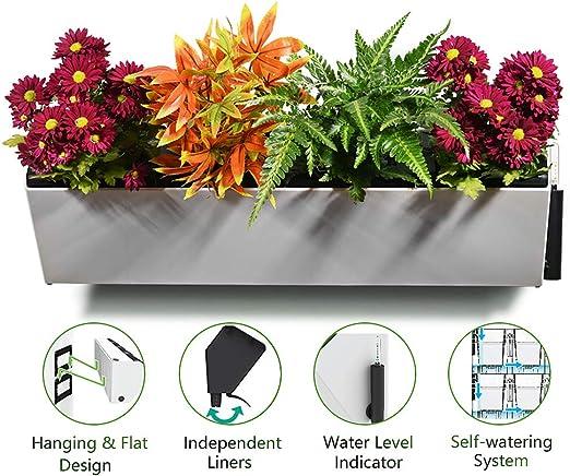 Jardinera vertical autorriego | Soporte de plantas montado en la ...