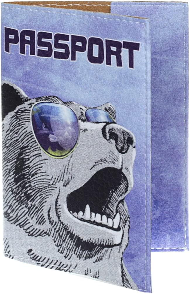 Ours sib/érien JETLAGGER Prot/ège Passeport en Cuir