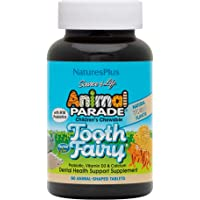 NaturesPlus Animal Parade Source of Life Tooth Fairy Children's Chewable - Natural Vanilla Flavor - 90 Animal Shaped…