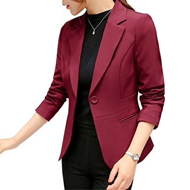 Robin Santiago Long Sleeve Blazer Women Autumn Formal Office ...